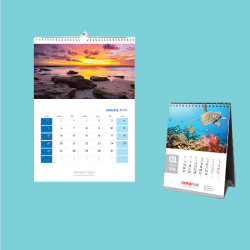 Cetak kalender meja dan dinding