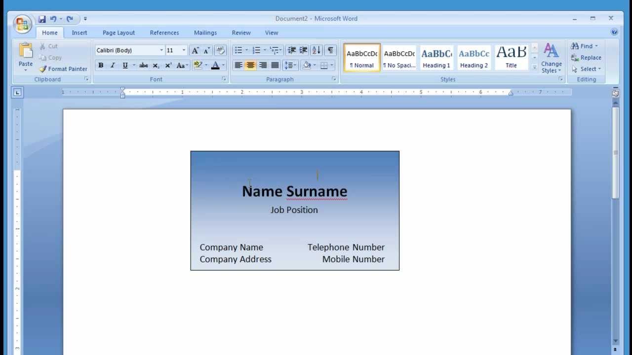 Cara Membuat Kartu Nama Dengan MIcrosoft Word - Print